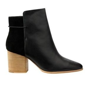 Kate Spade Saturday Black ankle booties leather